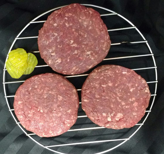 Picture of Bison Patties - 3 (1/3lb) patties (1 lb. total)