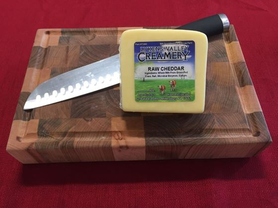 Picture of Raw Grass-Fed Mild Cheddar Cheese - 10.5 oz.