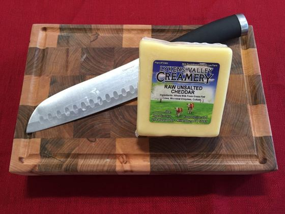Picture of Raw Grass-Fed Unsalted Cheddar Cheese - 10.5 oz.