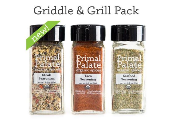 Picture of Primal Palate Griddle & Grill Seasoning ~ Organic Spice Pack