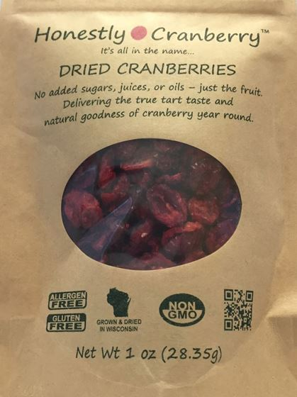 Picture of Dried Honestly Cranberries - 1 oz pkg