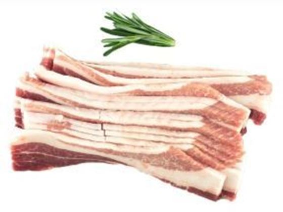 Picture of Sliced Fresh Side Pork Bacon (DIY Bacon) - 1 lb.