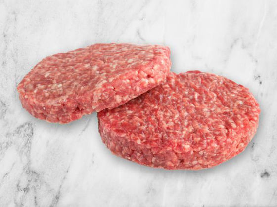 Picture of 75% Lean Beef Patties - 2 (7 oz) patties